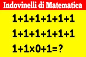 Indovinelli di Matematica